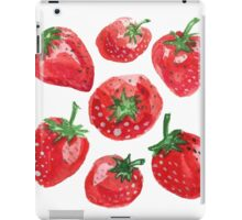 Hand drawn water color painting strawberries. iPad Case/Skin