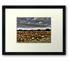 The Stone Wall Framed Print