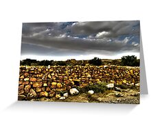 The Stone Wall Greeting Card