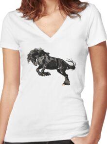 Wild Women's Fitted V-Neck T-Shirt