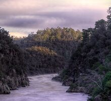 Flow- Cataract Gorge Launceston in flood by Ben Swanson