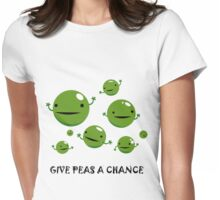 Give Peas a Chance Womens Fitted T-Shirt