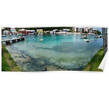 Wide-angle panorama of Flatts Inlet Poster