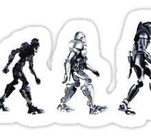 Evolution of The Cylon Sticker