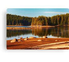 peace and harmony of the mountain Canvas Print