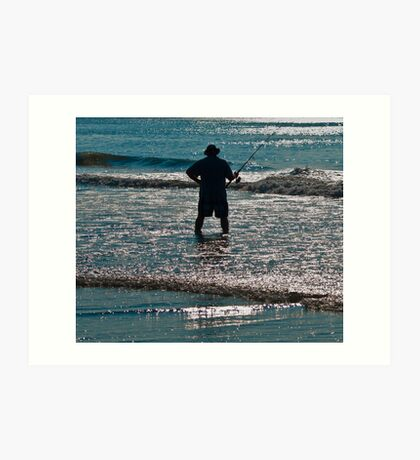 SURF FISHERMEN  Art Print