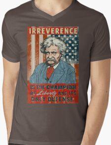 Mark Twain Irreverence & Liberty Mens V-Neck T-Shirt