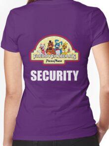 Five Nights at Freddy's - FNAF 2 -  Freddy Fazbear's Security Logo Women's Fitted V-Neck T-Shirt