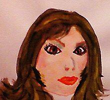 Portrait #3, watercolor by Anna  Lewis