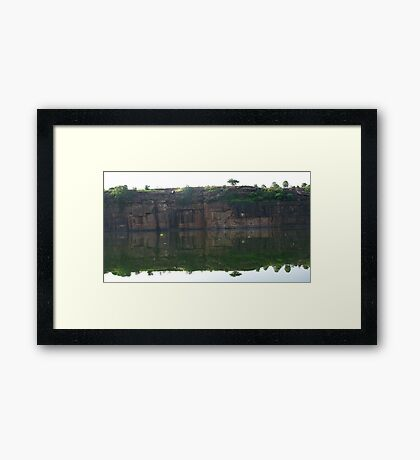 Mirror River Framed Print