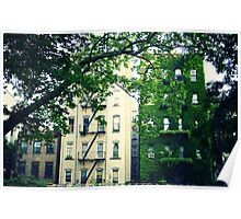 A Tale of Two Buildings - East Village - New York City Poster