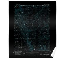 USGS Topo Map Nevada Disaster Peak 320858 1961 62500 Inverted Poster
