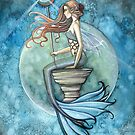 """Jade Moon"" Mermaid Art by Molly Harrison by Molly  Harrison"