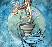 """""""Jade Moon"""" Mermaid Art by Molly Harrison by Molly  Harrison"""