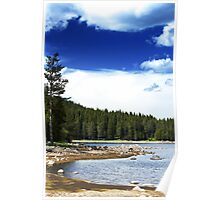lake and deep blue sky Poster