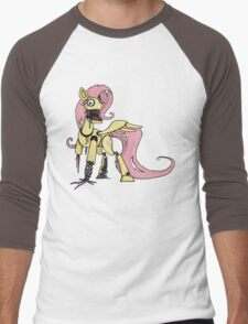 My Little Pony - MLP - FNAF -  Fluttershy Animatronic Men's Baseball ¾ T-Shirt