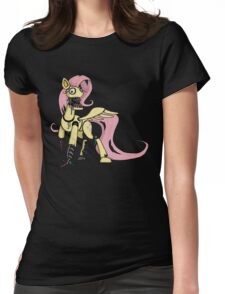 My Little Pony - MLP - FNAF -  Fluttershy Animatronic Womens Fitted T-Shirt