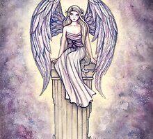 """""""Angel's Perch"""" Angel Art by Molly Harrison by Molly  Harrison"""