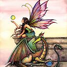 """Dragon's Orbs"" Fairy and Dragon Art by Molly Harrison by Molly  Harrison"