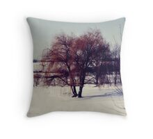 Winter Willow Throw Pillow