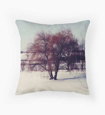 Winter Willow Throw Pillow