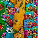 Long, long crazy lunch by ART PRINTS ONLINE         by artist SARA  CATENA