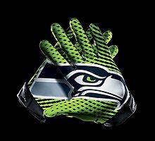 Seahawks Gloves by BradenBergren