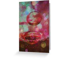 Red Bubble Fun Greeting Card