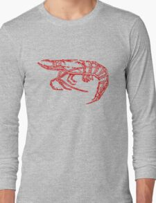 Red shrimp Long Sleeve T-Shirt