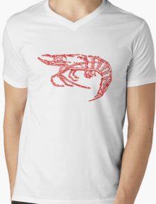 Red shrimp Mens V-Neck T-Shirt