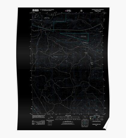 USGS Topo Map Oregon Foreman Point 20110809 TM Inverted Poster