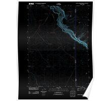 USGS Topo Map Oregon Beaver Charlie Breaks 20110824 TM Inverted Poster