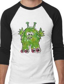 Funny Cartoon Monstar 011 Men's Baseball ¾ T-Shirt