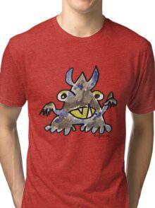 Funny Cartoon Monstar 012 Tri-blend T-Shirt