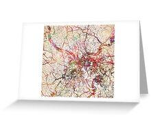 Pittsburg map Greeting Card