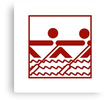 Team Rowing Sports Pictogram Canvas Print