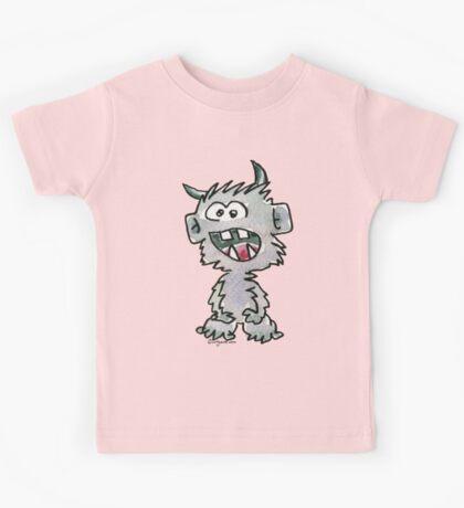 Funny Cartoon Monstar Monster 017 Kids Tee