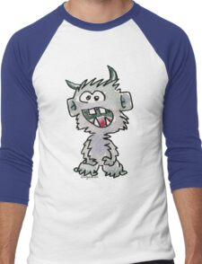 Funny Cartoon Monstar Monster 017 Men's Baseball ¾ T-Shirt