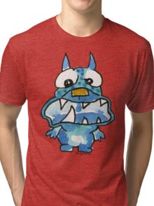 Funny Cartoon Monstar 020 Tri-blend T-Shirt