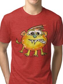 Funny Cartoon Monstar 021 Tri-blend T-Shirt