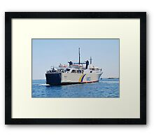ANES Lines ferry Proteus Framed Print