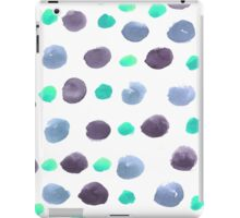 Hand drawn water color pattern background  iPad Case/Skin