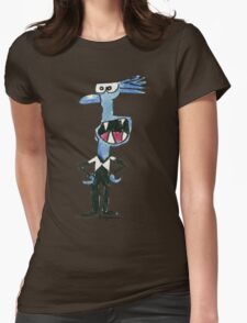 Funny Cartoon Monstar 025 Womens Fitted T-Shirt