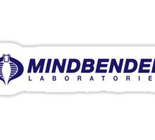 Mindbender Laboratories Purple Parody Logo Sticker