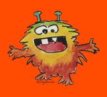 Funny Cartoon Monstar 030 Kids Tee