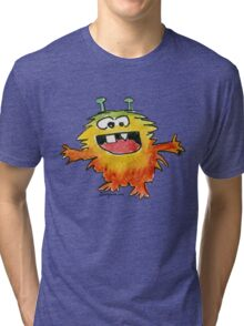 Funny Cartoon Monstar Monster 030 Tri-blend T-Shirt