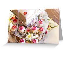 Wedding Cup Cakes Greeting Card