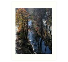 Blackstone Canal in Autumn Art Print