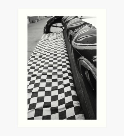 Checkered Flag Art Print