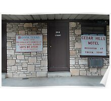 Motel in West Hill Country Poster